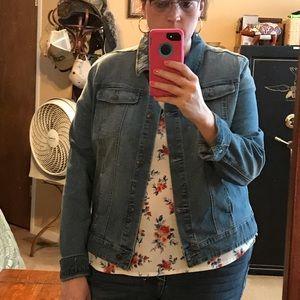 Plus size 2x 20w denim jean jacket